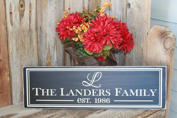 Last Name Sign - Family last name personalized MADE TO ORDER - Vinyl lettering - Wood Sign Personalize for free