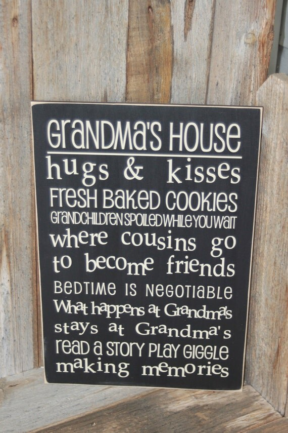 GRANDMA'S HOUSE Subway Art decor wall hanging  -  wood home decor Board