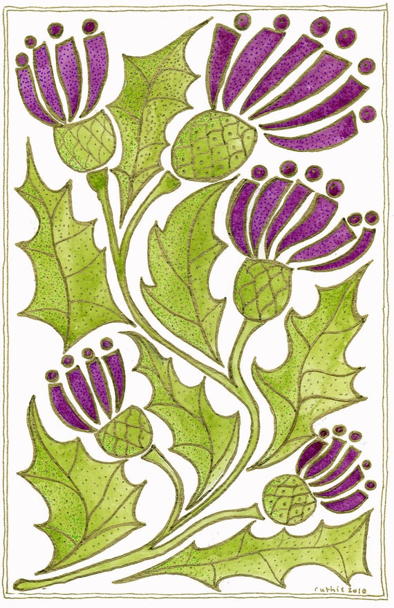 Scottish thistle and its folklore - print A4
