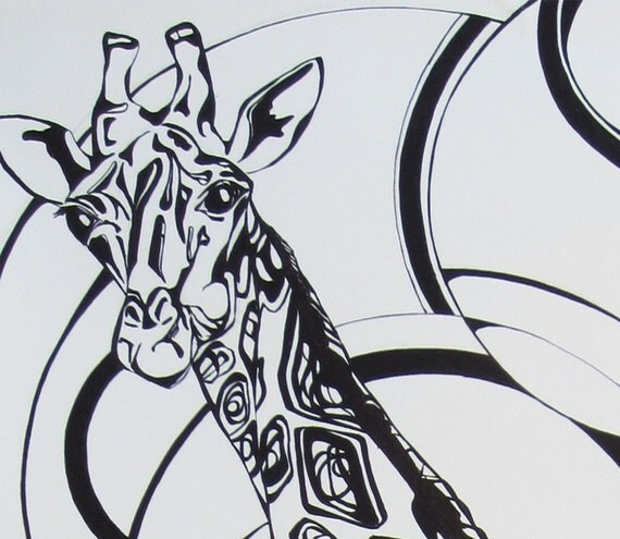Abstract Giraffe Drawing