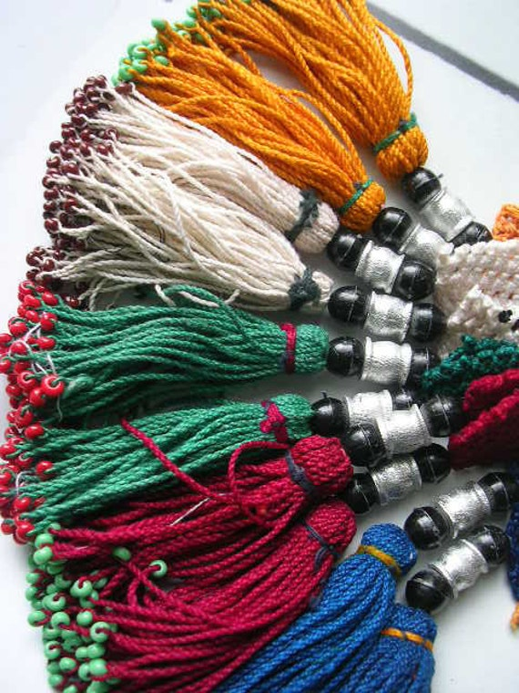 10 COLOR  TASSEL kuchi nomad pashtun tribal belly dance costuming