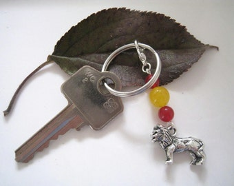 GRYFFINDOR inspired dangle charm, zipper pull, key chain