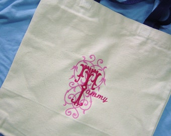 monogrammed everyday market bag