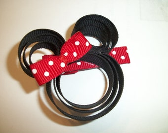 Red Minnie Mouse clip
