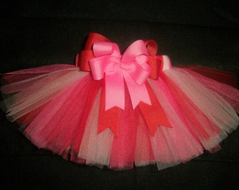 Valentine's Day dog tutu custom made up to a 12 inch waist