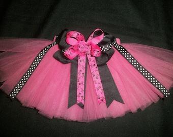 Pink pirate tutu, custom made any size Newborn-4t