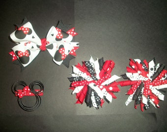 Red 4 pc. Minnie Mouse Bow Set