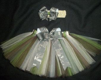 Army ACU tutu set, custom made any size Newborn-4t