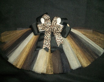 Leopard print dog tutu custom made up to a 12 inch waist