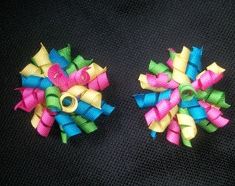 Bright colored mini korker pair