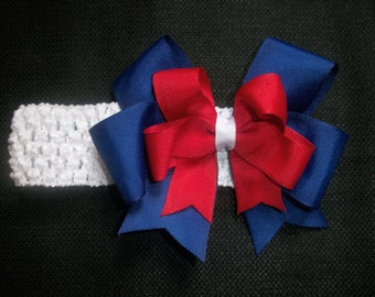 4th of July hairbow, Little Sparkler free crochet headband
