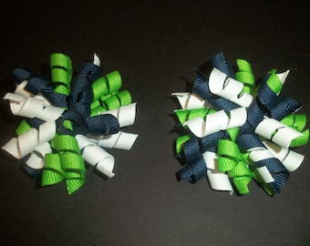 Seattle Seahawks inspired mini korker pair