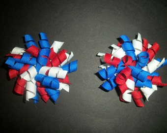 4th of July Red, White, and Blue mini korker pair