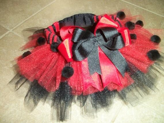Ladybug dog tutu costume custom made up to a 12 inch waist