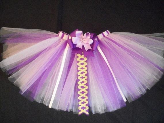 Rapunzel tutu, princess rapunzel tangled inspired tutu custom made sizes Newborn-4t