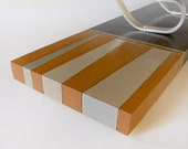 ARROW:  coat rack hooks geometric modern design brown