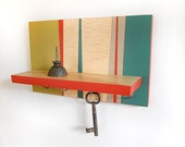 MODERN SHELF and Key Hooks with Linear Design.  Perfect for Weddings, Housewarmings or Couple Gift