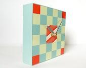BUOY: nautical small geometric art block wall clock