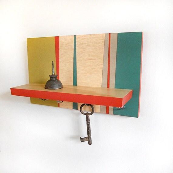 Small Key Wall Decor : Items similar to retro modern wall decor hanging wooden
