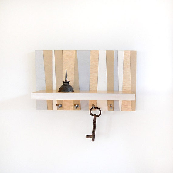 Shore Modern Wall Decor Hanging Wooden Shelf By Pigandfish