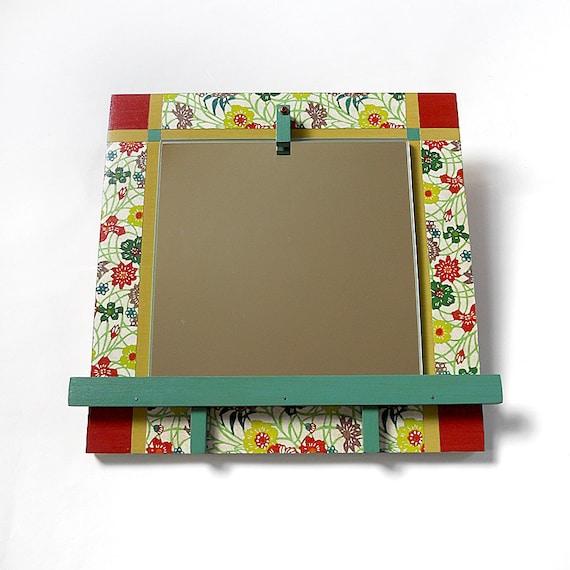 PETAL: artful decorative small modern wall mirror floral decor