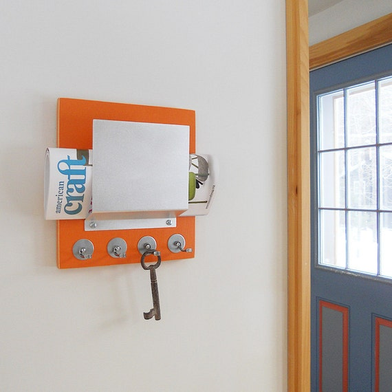 items similar to carrot retro wall hanging mail organizer orange key rack hooks home office. Black Bedroom Furniture Sets. Home Design Ideas