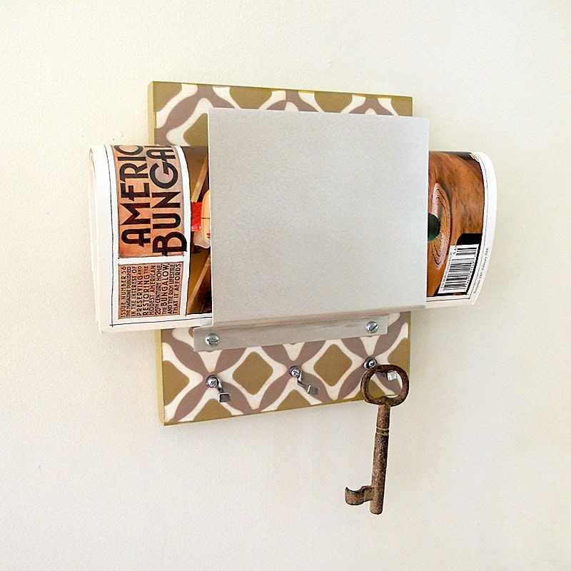 Unavailable listing on etsy - Wall mounted letter holder and key rack ...