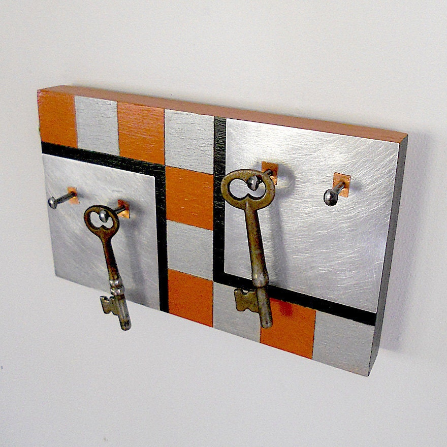 Z key holder geometric modern design wall mount by pigandfish - Key racks for wall ...
