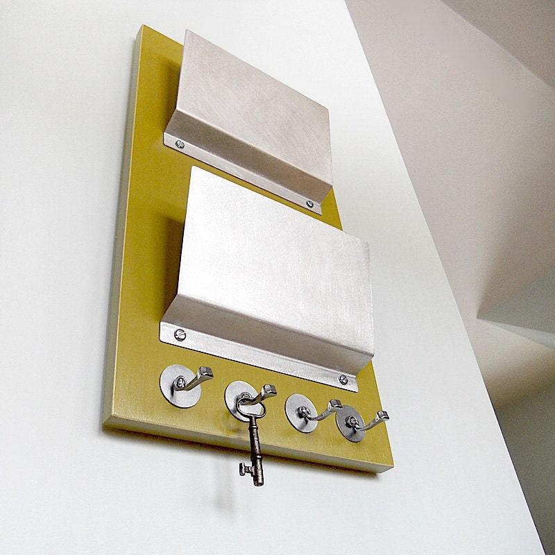Moss wall mounted mail holder organization key by pigandfish - Wall mounted key and mail holder ...