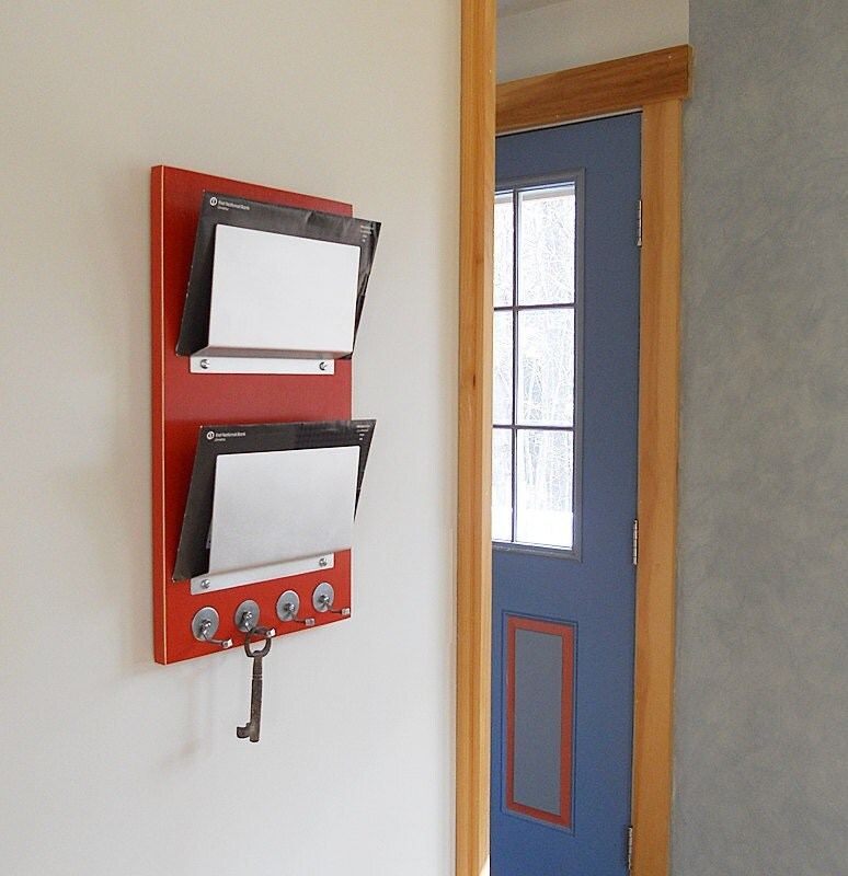 Wall Organizer For Home wall mail holder: minimal mail organizer with key hooks