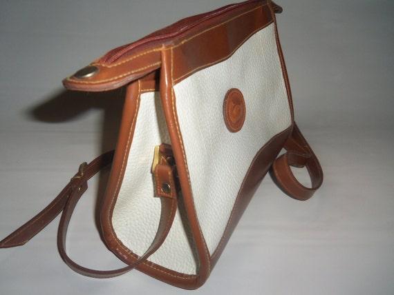 Vintage Dooney and Bourke handbag  Cream & Tan leather