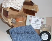 All Hand Made Spa Set in Blue and White