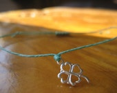 Sterling Silver Shamrock Bracelet or 4 Four Leaf Clover Bracelet (14 Colors) last one