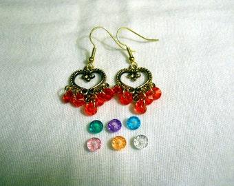 Heart Gypsy Bohemian style Beaded Earrings