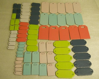 Chipboard Tags Lot of 80
