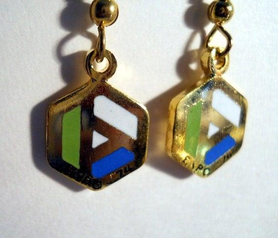 Expo 74 earrings