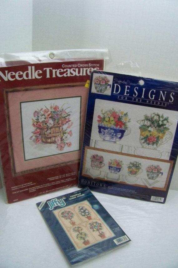 Counted Cross Stitch Kit 3 Kits