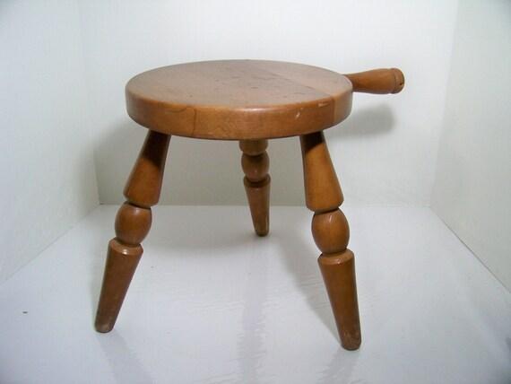 3 Legged Wood Milk Stool Authentic Furniture El Segundo Calif