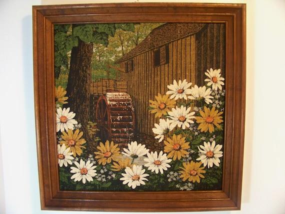 Vintage Kay Dee Linen Framed Picture