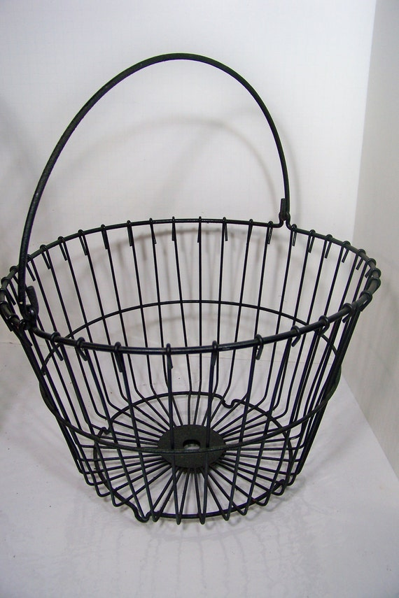 Vintage Metal Wire Egg Basket