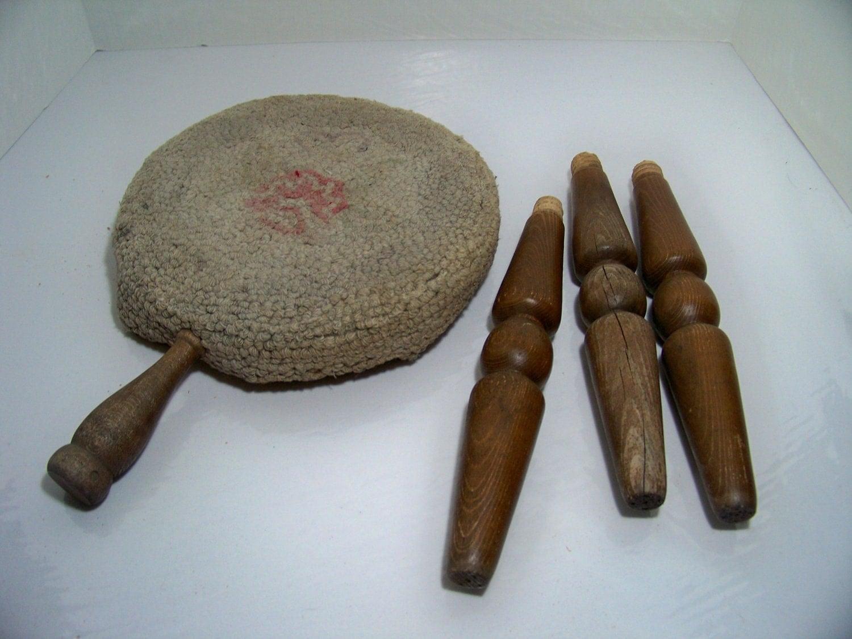 3 Leg Wood Milk Stool Authentic Furniture El Segundo Calif