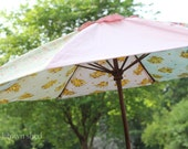 umbrella made from vintage fabrics