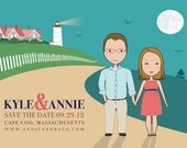 Custom Illustrated Wedding Invitations, Save the Dates, Announcements, Birthdays