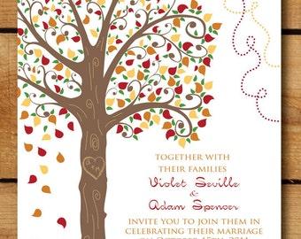 "DIY - ""Love Tree"" Digital Wedding Invitation Suite - 5x7"