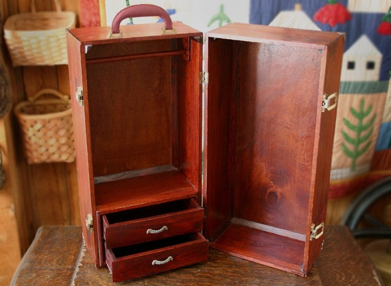 Vintage American Girl Doll Clothes Case Wooden By