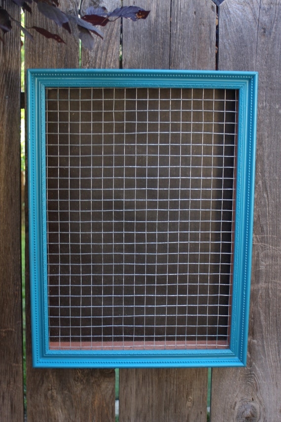 Custom Vertical Wall Succulent Planter Box with Vintage Frame for Spring Blue