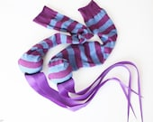 Sock Practice Poi in Purple and Blue - Handmade