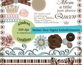 Mother Dear Embellishment Set Clipart Personal and Commercial use