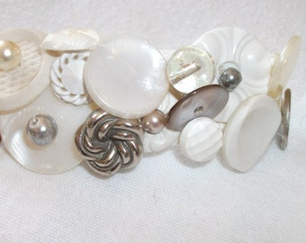 Vintage Button Barrette Chunky Hair jewelry