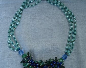 Caribbean green blue necklace